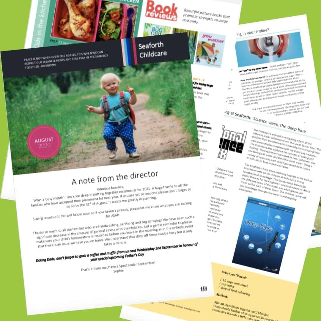 Seaforth Childcare August 2020 Newsletter