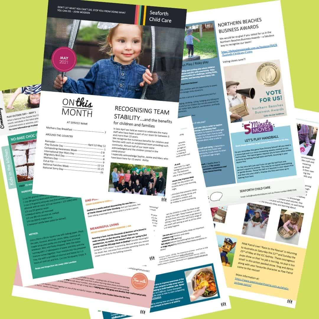 Seaforth Childcare May 2021 newsletter