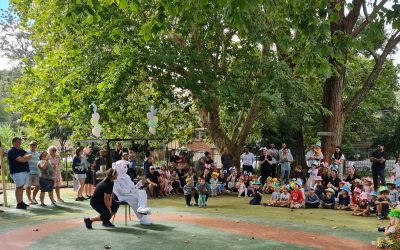 parents and children at Seaforth Childcare easter parade