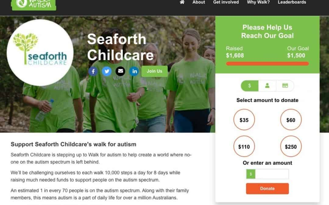 Seaforth Childcare raised funds for Walk for Autism 2021