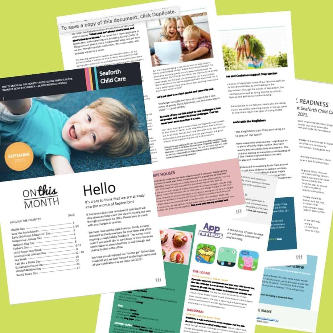 Seaforth Childcare September newsletter