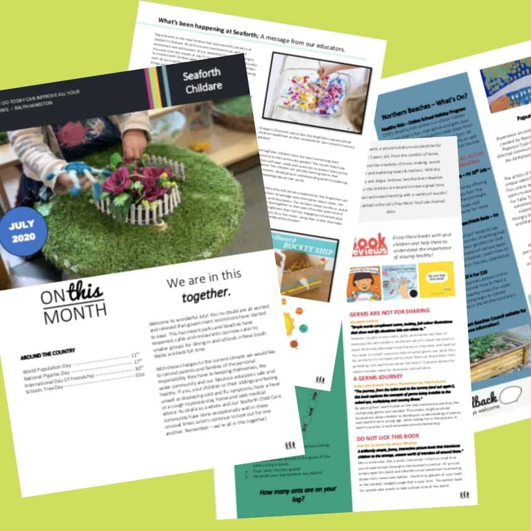 Seaforth Childcare July 2020 newsletter